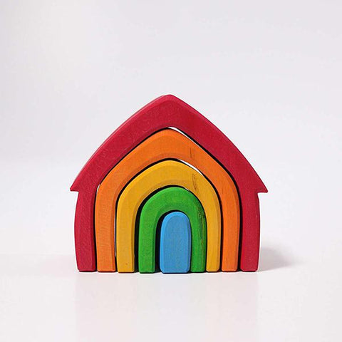 Grimms House stacking Rainbow | Grimms wooden toys | Lucas loves cars