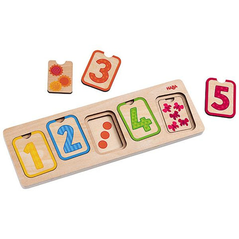 Wooden layer number puzzle  | Haba toys | Haba Australia | Lucas loves cars