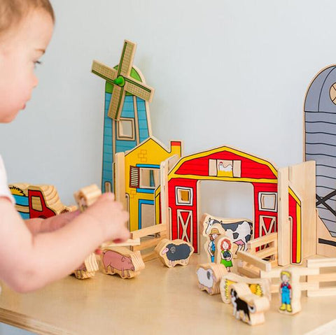 Happy Architects Wooden Farm | Freckled frog | Farm animals toys |  Lucas loves cars