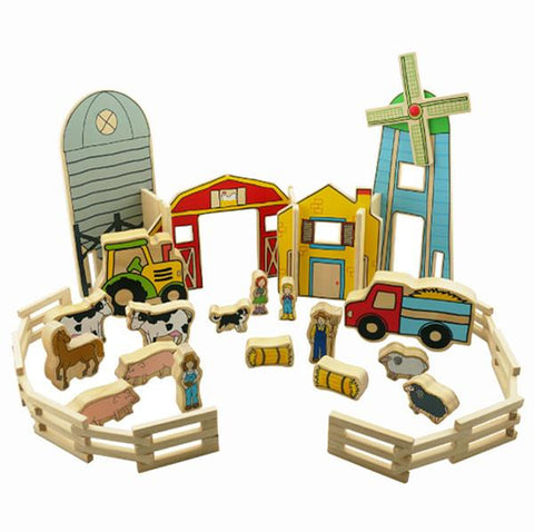Happy Architects Wooden Farm | Freckled frog |  Lucas loves cars