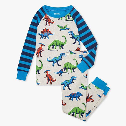 Hatley Organic Cotton Pajamas| Kids Dinosaur PJ  | Lucas loves cars