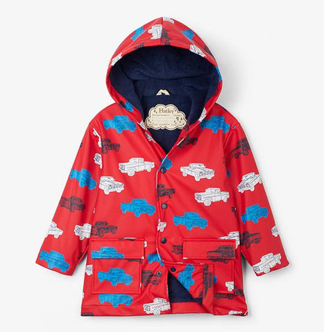 Pickup Trucks Raincoat  | Hatley raincoat Australia  | Hatley | boys raincoat