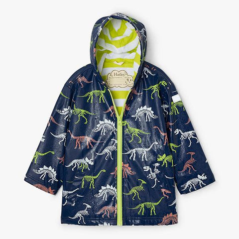 Hatley Raincoat DInosaur Fossils colour change