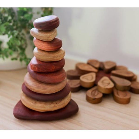 Wooden stacking stones | Australian made | Lucas loves cars