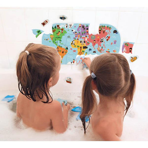 Janod Australia | Bath map toy  | Bath toys | Lucas loves cars