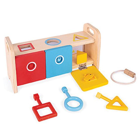 Janod Australia | Essentials Shape Box with Keys | Lucas loves cars