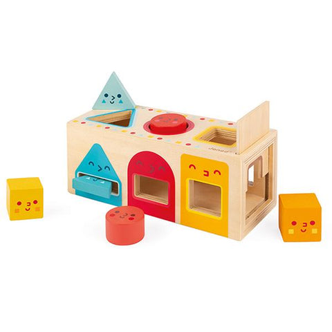 Janod Australia | Geometric Shapes Box | Lucas loves cars