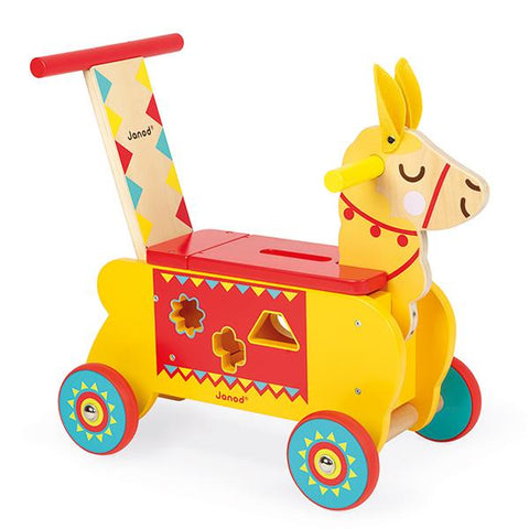 Janod Llama ride on   | wooden ride on |  toys for 1 year olds | Lucas loves cars