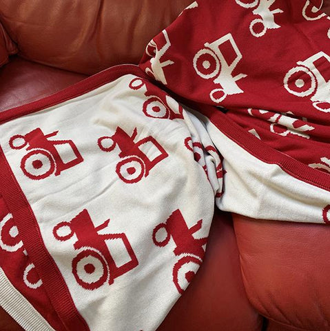 Merino Wool Blanket - Red Tractors