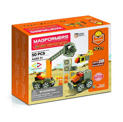 Magformers Construction truck set | STEM toy | Lucas loves cars