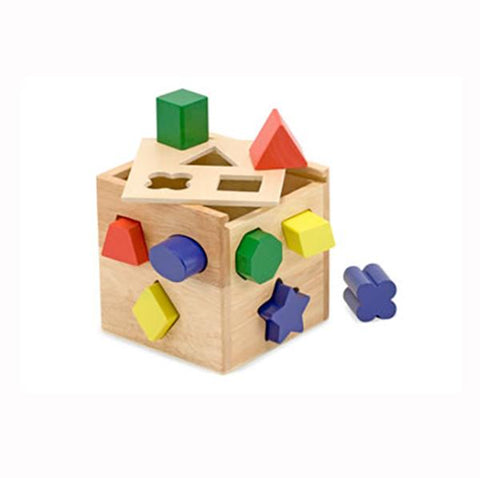 wooden sorting cube | Melissa and doug | Lucas loves cars