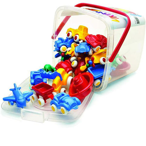 Mini Chubbies Bucket 20pcs  | viking toys | Lucas loves cars