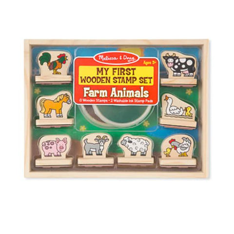 First stamp set farmyard  | Melissa and Doug | Lucas loves cars