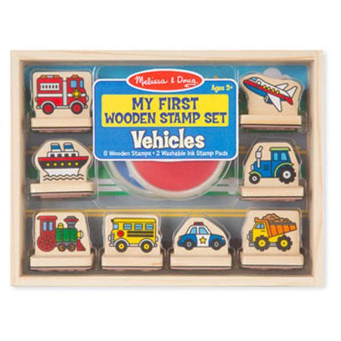 Melissa and Doug | First stamp set | Lucas loves cars