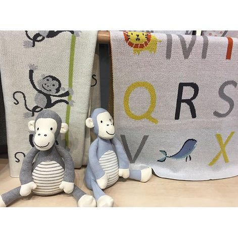 Baby blanket - Alphabet | Indus design |  Lucas loves cars