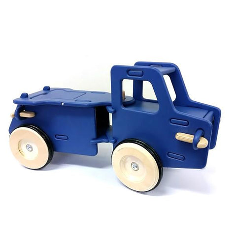 Moover  Blue wooden truck Ride on  | wooden ride on toys for 1 year olds | Lucas loves cars