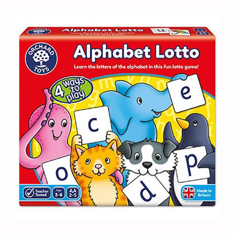 Alphabet Lotto | Orchard Toys | Board games | Lucas loves cars