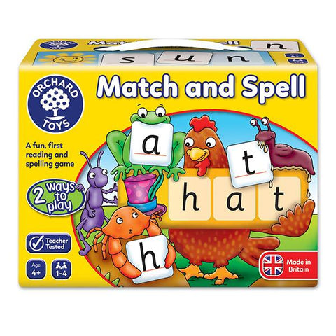 Match and Spell Educational game | Orchard toys | Lucas loves cars