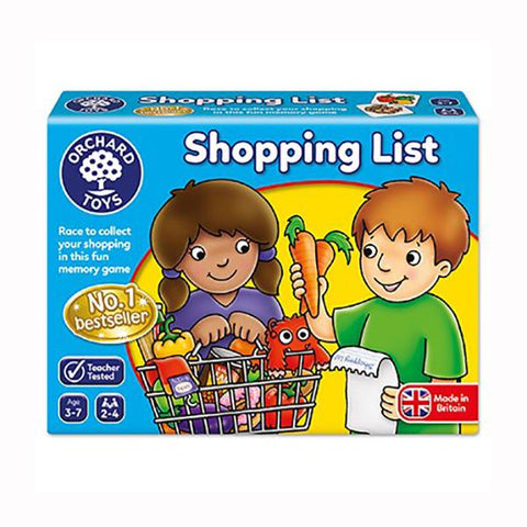 Shopping List | Orchard Toys | Board games | Lucas loves cars