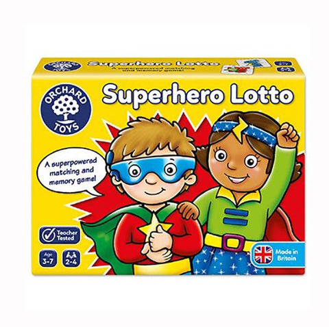Superhero Lotto | Orchard Toys | Board games | Lucas loves cars