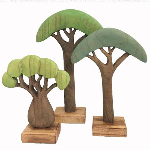 Papoose toys | African Trees Coloured  | Wooden trees | Lucas loves cars