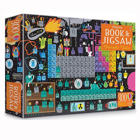 Periodic table jigsaw and book | stem learning  | Lucas loves cars