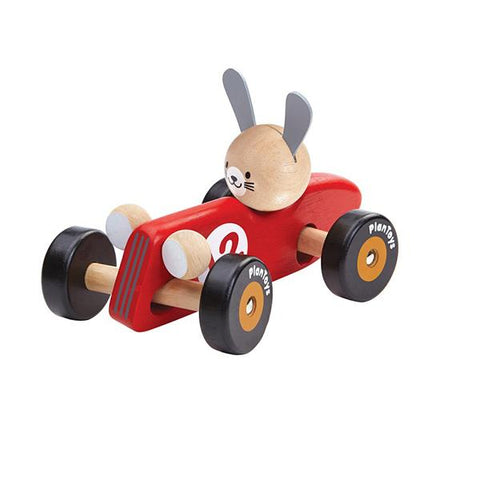 Plan toys | Rabbit race car | Wooden car | Lucas loves cars
