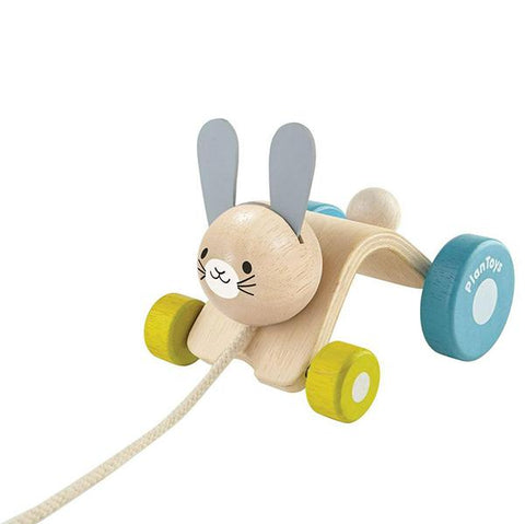 Pull along hopping rabbit | Plan toys | Lucas loves cars