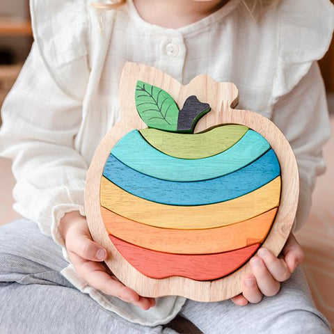 Wooden apple puzzle | Australian toy store | Lucas loves cars