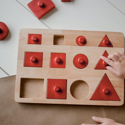 Montessori red toddler puzzle