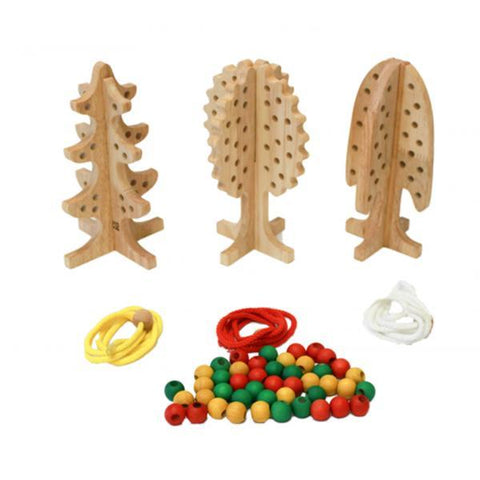 Qtoys wooden lacing trees | Educational toys | Lucas loves cars