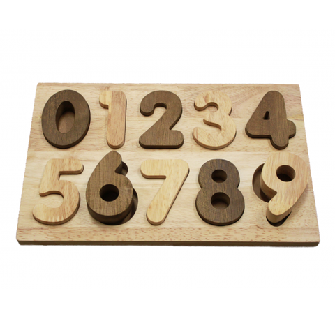 Qtoys Wooden number puzzle | educational toys | Lucas loves cars