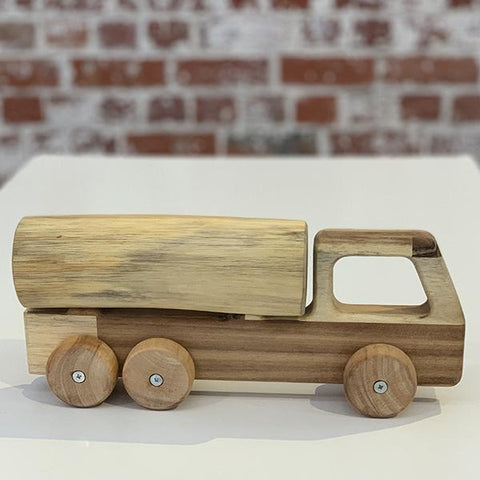 Solid wooden tanker truck toy | Qtoys wooden toys | Lucas loves cars