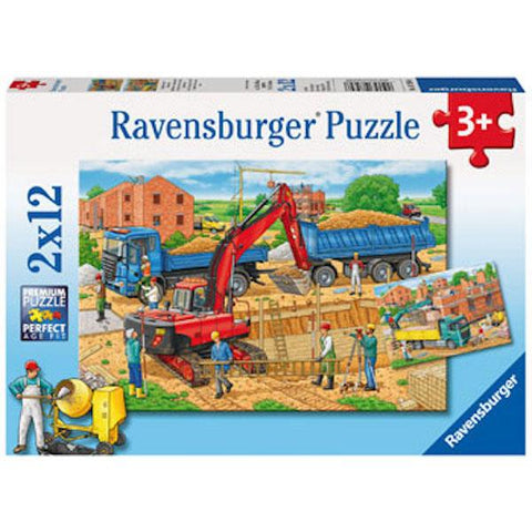 2 x 12 Busy Construction Puzzle | Ravensburger puzzles |  Lucas loves cars