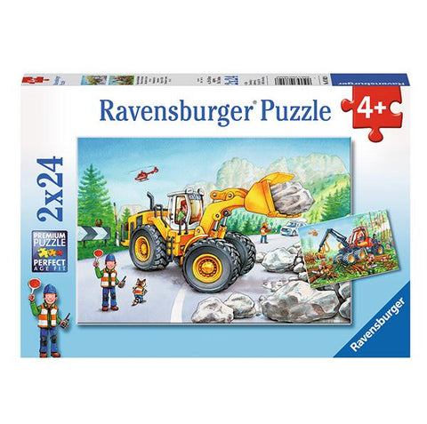 Diggers at work 2 x 24 pc | Ravensburger |  Lucas loves cars