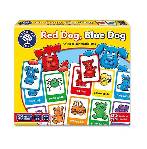 Orchard toys red dog blue game | colour matching game | Lucas loves cars