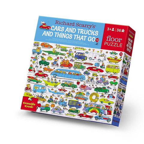 Richard Scarry Car and Trucks | Car and truck Puzzle | Lucas loves cars