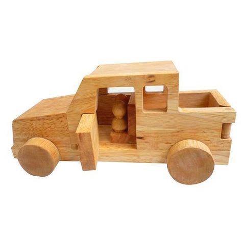 Wooden safari truck | wooden cars  | Qtoys | Lucas loves cars