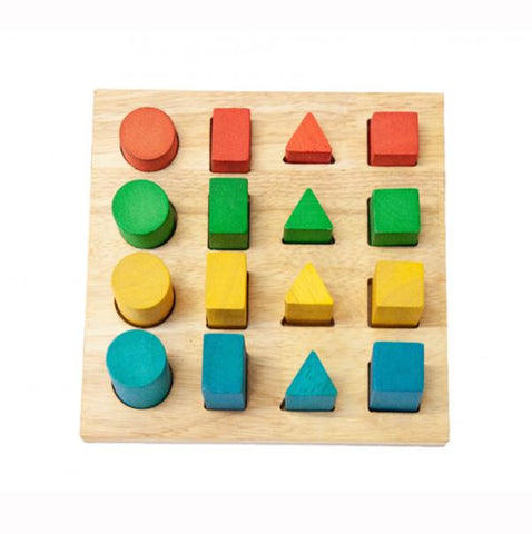 Wooden Shape and size puzzle