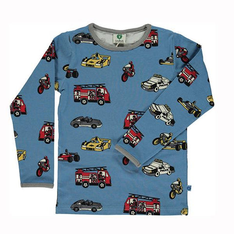 Smafolk  Cars Long Sleeve Blue