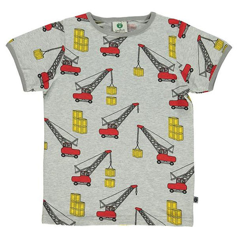 Smafolk Cranes | Organic cotton kids t-shirt | smafolk australia | Lucas loves cars