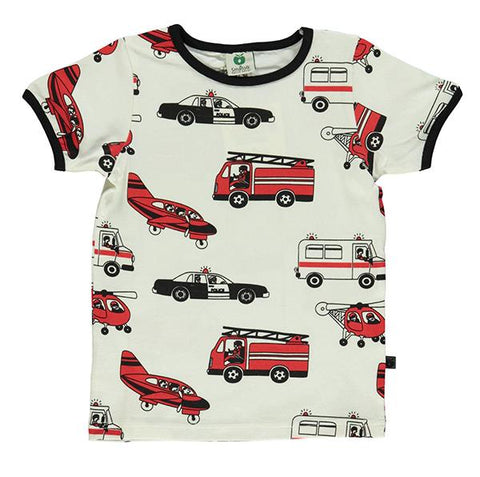Smafolk organic cotton tshirt  | Emergency vehicles | Lucas loves cars