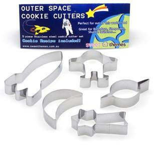Outer space cookie cutters