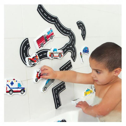 Traffic bath fun foam cars | Lucas loves cars