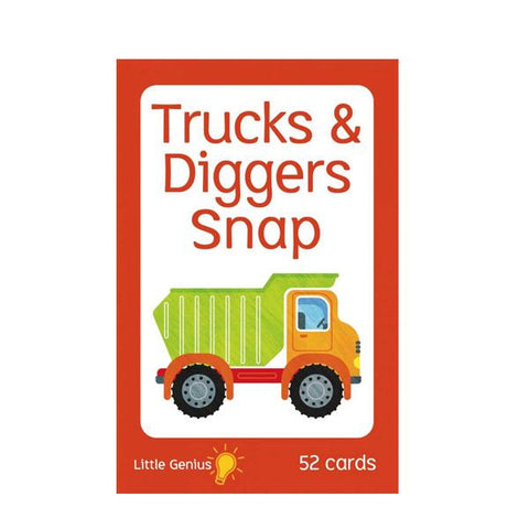 Diggers trucks snap cards  | Little genius | kids games  | Lucas loves cars
