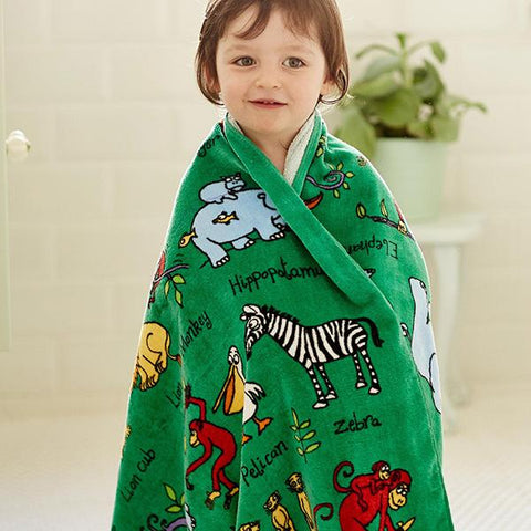 Tyrrell Katz | Kids Towel | Lucas loves cars
