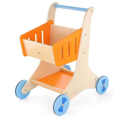 Wooden shopping cart | Viga toys | lucas loves car