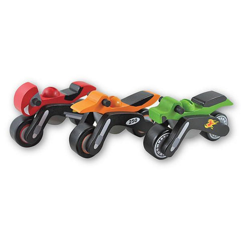 Discoveroo motor bike wooden toy | Lucas loves cars