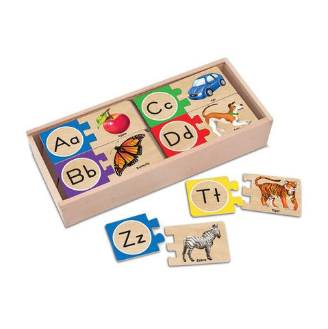 Alphabet wooden puzzle | Melissa and Doug | Learning letters  | Lucas loves cars