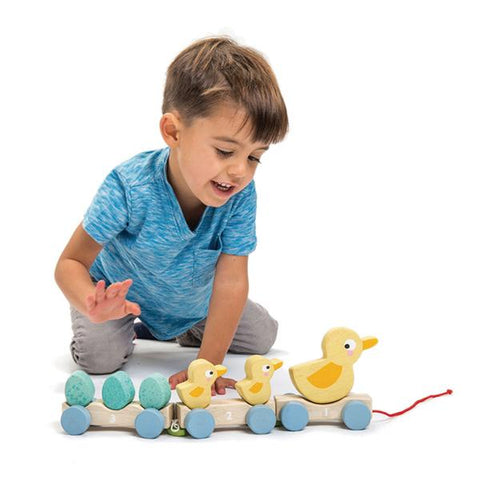 Pull along Ducks | Tender Leaf Toys | Wooden toys | Lucas loves cars